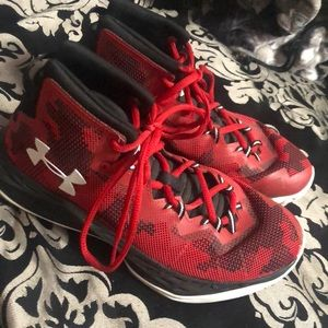 Under Armour Red/Black Basketball Shoes